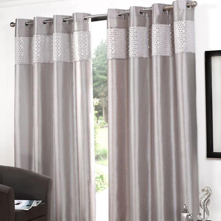 1000 ideas about silver curtains on pinterest black and. Black Bedroom Furniture Sets. Home Design Ideas