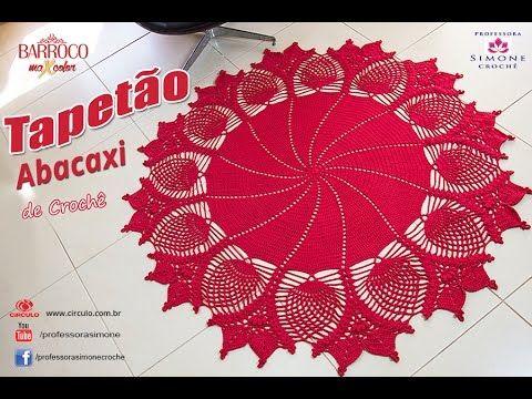 Tapetão Abacaxi de Crochê - passo a passo - #Desafio - YouTube