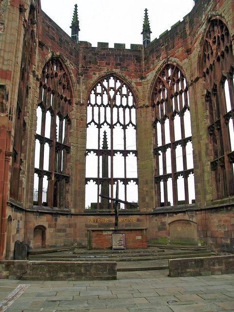 It must have been hard during your childhood with this level of destruction.  Ruins of Coventry's Cathedral