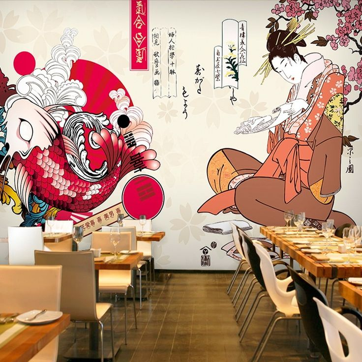 18.72$  Watch here - http://ali2zm.shopchina.info/1/go.php?t=32749540464 - Free Shipping custom 3D stereo Japanese ladies mural wallpaper sushi store Club corridor porch wallpaper  #aliexpressideas