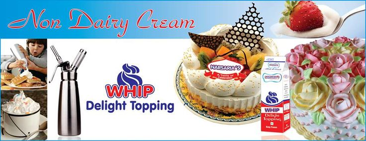 We are occupied in offering superb quality Non Dairy Whip Topping Cream to our valuable clients.  Frollik Whip Delight Topping is a frozen, non-dairy whipped topping that has been formulated with ready-to-use convenience. http://bit.ly/1M10T5i