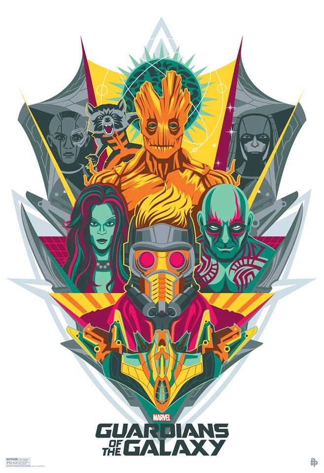 """Check out this fan-made poster for Marvel's """"Guardians of the Galaxy"""" by the PosterPosse! To get it yourself, look for our Guardians of the Galaxy skinned Ice Cream Truck roaming the streets of the Gaslamp district or head to Nerd HQ's Cosplay Parade at Petco Park Saturday morning 9:30-11:30 a.m. PT, hosted by Commander Holly, for a chance to get this free exclusive poster!"""