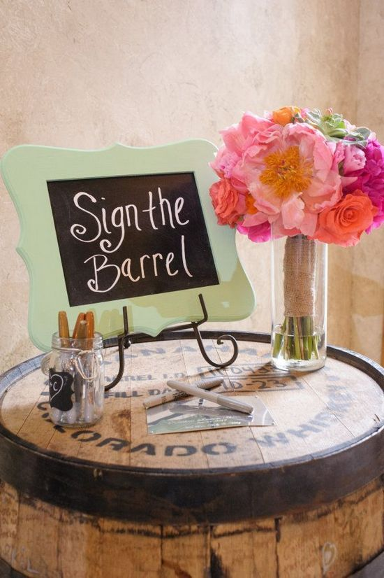 84 best images about guest book alternatives on pinterest for Wedding sign in ideas