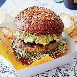 SoCal Guacamole Burger   MyRecipes.com