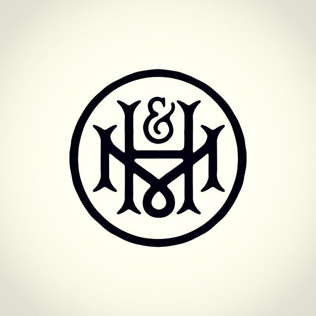 M&H #monogram #lettering #handlettering