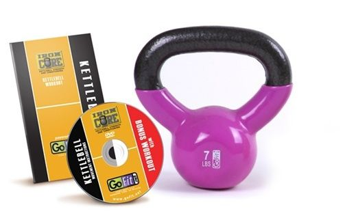 All Kettlebells from GoFit have a rubberized coating that is easy on your floors and include a bonus workout DVD and handbook.