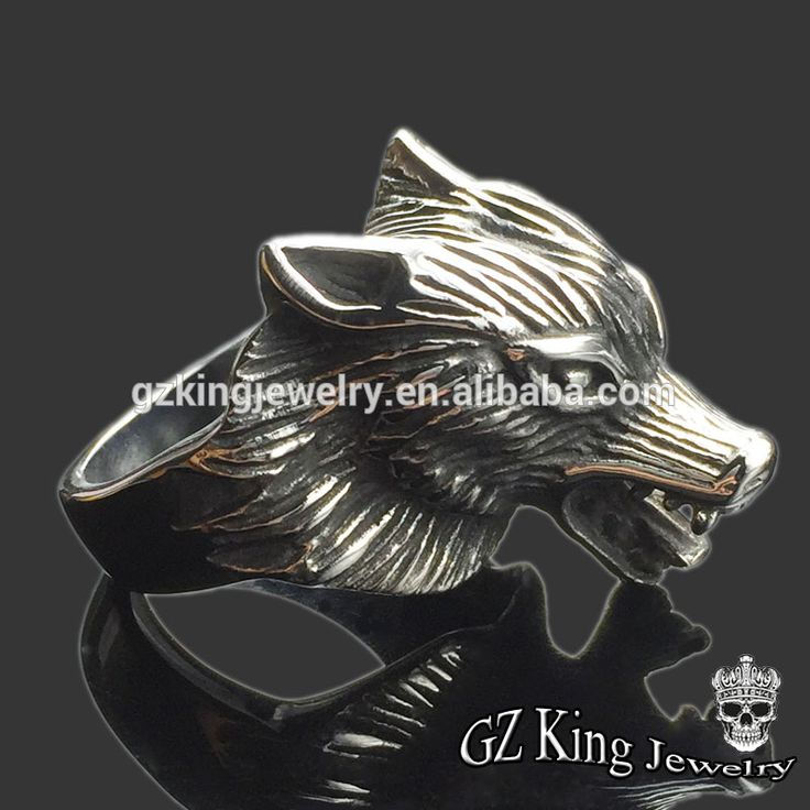 Cheap silver ring 925 sterling stainless Steel gay men wolf ring
