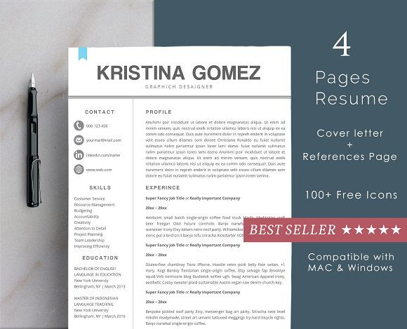 Resume Template  Pages  Cool Creativework  Resume Templates
