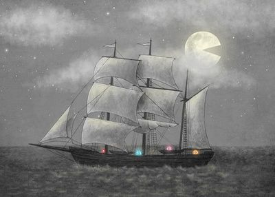 Ghost Ship  by Terry Fan: Terry O'Neil, Buy Ghosts, Ships Art, Terry Fans, Ghosts Ships, Wall Murals, Ghostship, Art Prints, Products