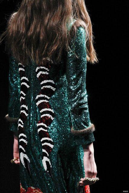 Tie-Xue-Yan-Yun-Shi-Ba-棋™: Gucci Ready To Wear Fall Winter 2016 Milan Detail...