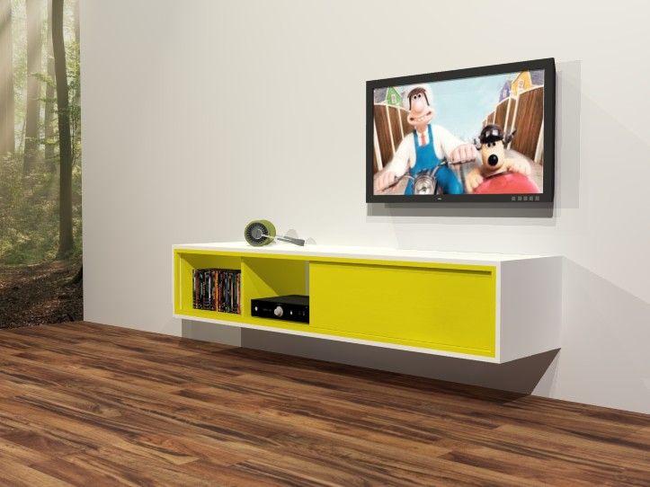 Werktekening / bouwtekening voor zwevend TV-meubel Arturo. Bijzonder mooi meubelontwerp met handleiding om het meubel eenvoudig zelf te maken.