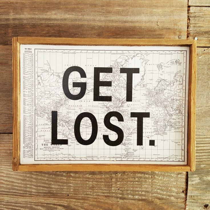 GET LOST  |  Rustic Wall Art  |  Vintage Home Decor  |  Travel  |  Custom Available by BumperCropMarketing on Etsy