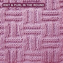 [Knitting in the round] Double basket pattern combines ribs and ridge pattern...