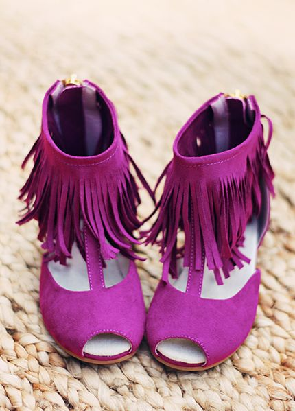 Ankle Boots Fringe Girls