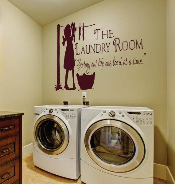 Laundry Room Decal Laundry Room Wall Decal Laundry by SignJunkies