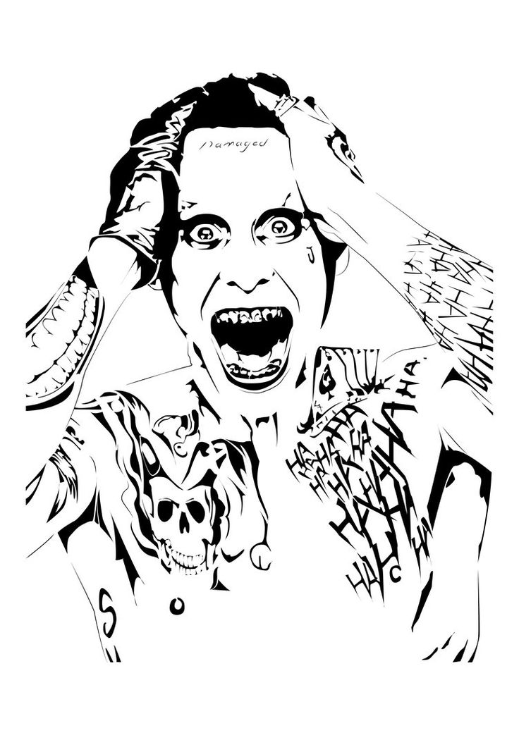 Jared Leto as Joker || Stencil shirt design. I've recently grown fond of using illustrator and have been using it for most of my plates during college now, let me know and comment if you want the p...