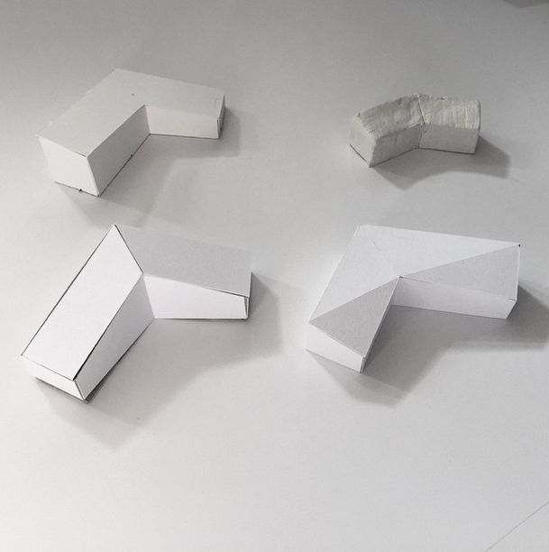 Playing with some of Nuala's sketch models of a new project