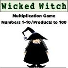 Free Multiplication Game! Wicked Witch is a fun multiplication game using facts 1-10 with products to 100.