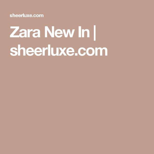 Zara New In | sheerluxe.com
