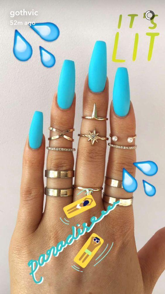 Deep-Blue-Sea | Summer Nails Designs Beach Sea