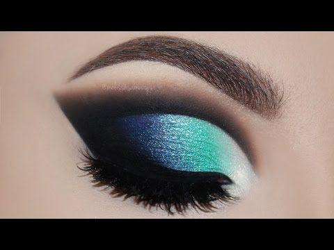 ♡ Maquiagem Cut Crease Azul | Melissa Samways BR ♡ - YouTube