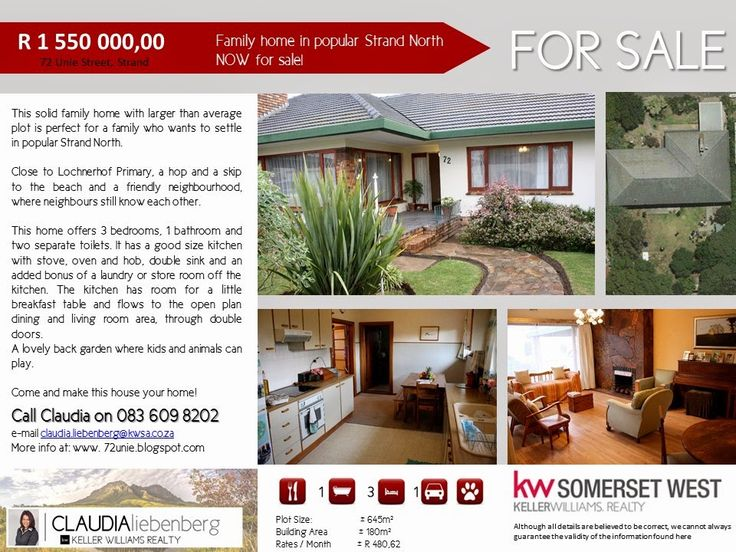 Family home in Strand North For Sale!