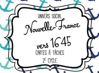 Les idées de Mme Roxane!: La Nouvelle-France