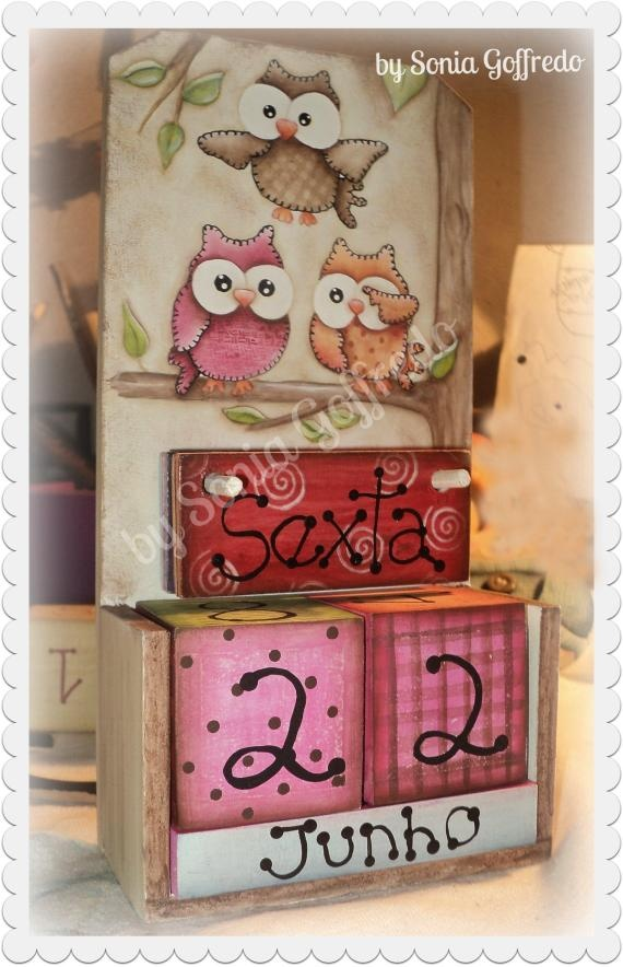 Calendar, owls, craft, DIY