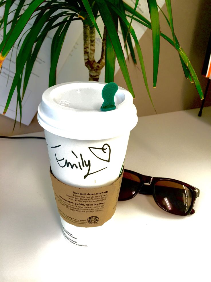 A Starbucks morning with love from the barista