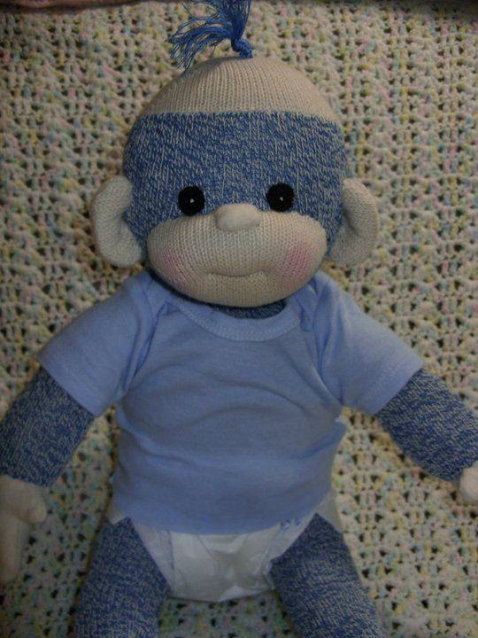 PDF motif bébé singe chaussette par LaliDolls sur Etsy