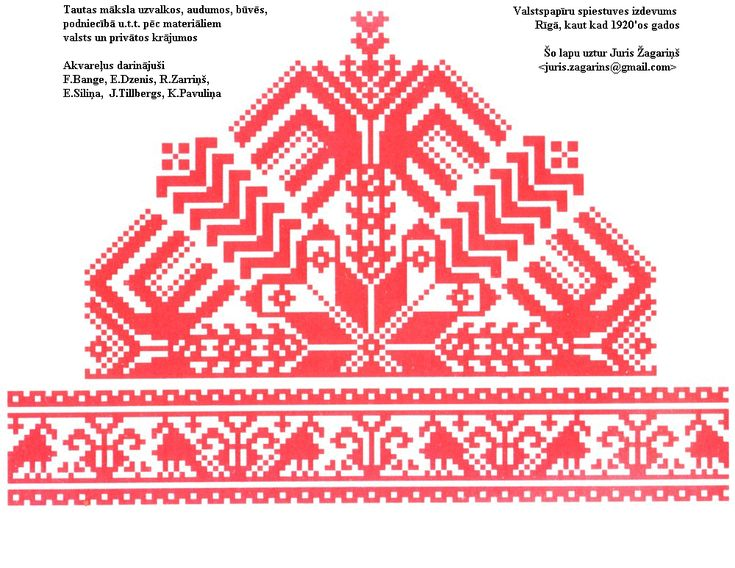 Website with scanned pictures of Latvian folk costumes and accessories of daily life dating from the 1920s (approx.)