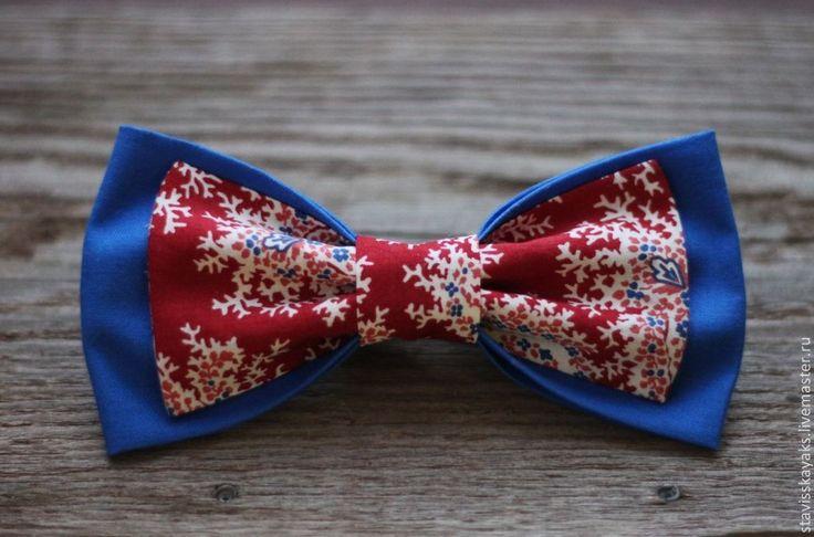 Купить Галстук-бабочка - синий, орнамент, бабочка, галстук-бабочка, мужчине, свадьба, модный аксессуар