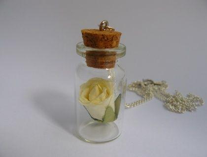 Flower in a Bottle Necklace