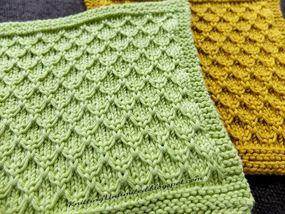 Mock Honeycomb Knit Dishcloth. Free pattern