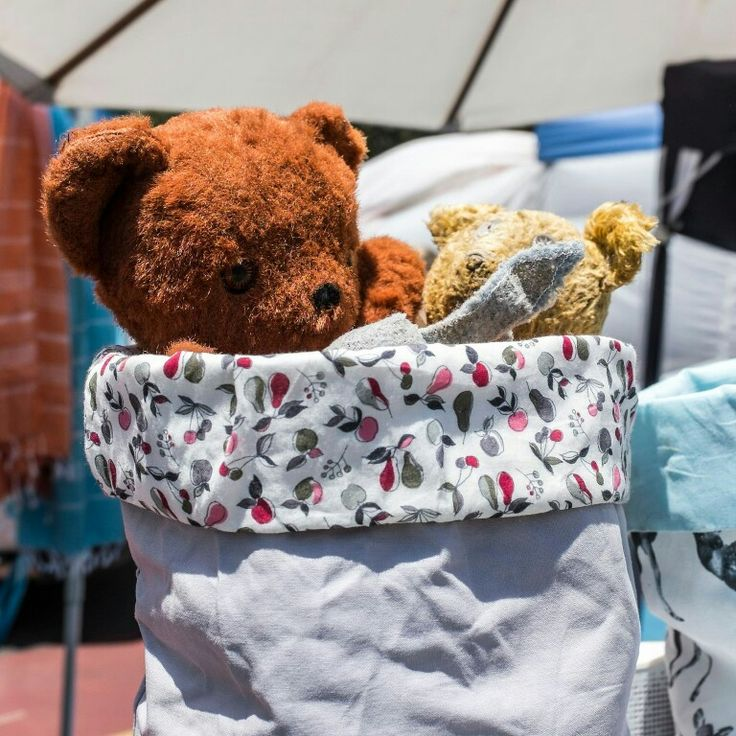 Bears in basket, Bondi Sunday Market, Bondi Sydney