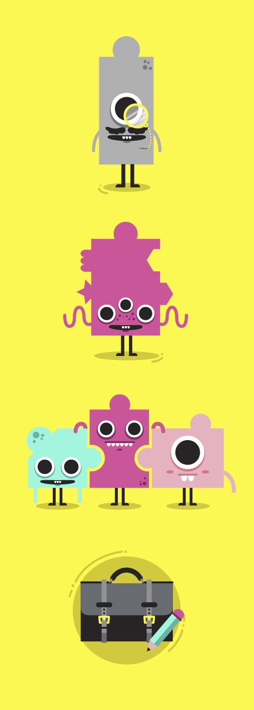 Box1824 Next by Bee Grandinetti, via Behance | #character #flat #design