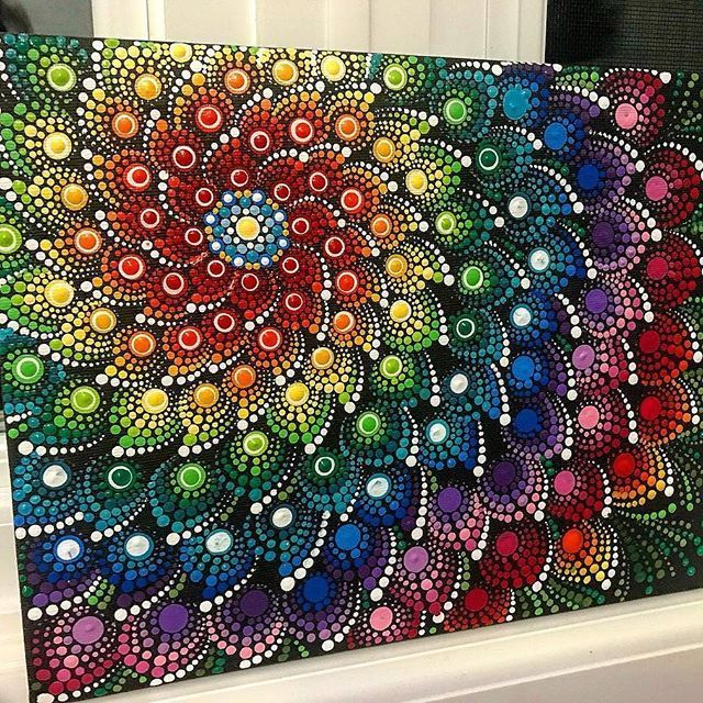 Amazing Dot Pattern In This Painting Diy Dot Art Painting Art