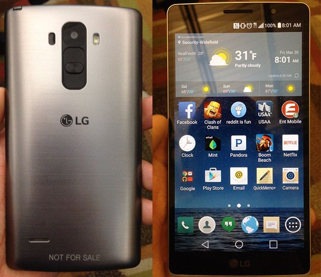 Photos purportedly showing the LG G4 leak online
