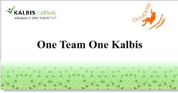 One time one kalbis banner 4x2 m2
