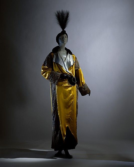 Opera coat Paul Poiret (French, Paris 1879–1944 Paris) Date: 1912 Culture: French Medium: silk, metal Dimensions: Length at CB: 16 1/2 in. (41.9 cm) Credit Line: Purchase, Irene Lewisohn Bequest, 1982 Accession Number: 1982.350.2