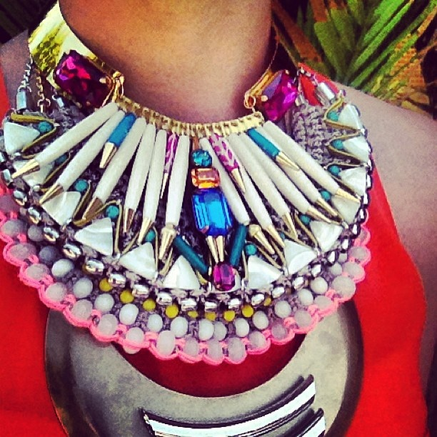 today's neck swag on save the last pinker. a l o t. this aztec slash masai warrior inspired bijoux statement creation is the result of a day spent styling for tomorrow's lookbook shoot. featuring jewels from luxe labels Lambert + Sollis + Elixir. each divine piece is available now on www.savethelastpinker.com.au <3
