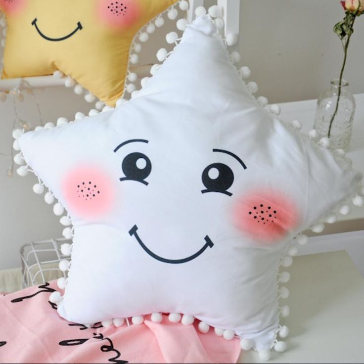 Happy Star pillow for baby nursery Room