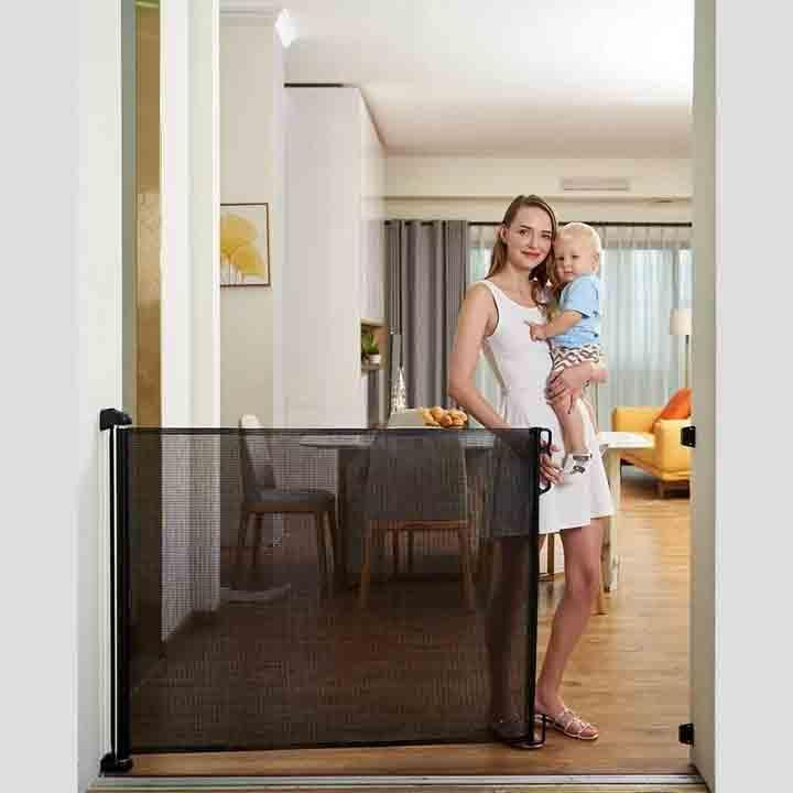 Retractable Nifty Gate Baby Pets Safety Guard Shopovia Co In 2020 Pet Safety Retractable Baby Gate Pet Safety Gate