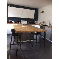 Le pied 3 tiges de 90 cm est idéal pour la confection d'une table haute, d'un îlot central - 6 coloris disponible – Fabriqué dans notre atelier du nord de la France