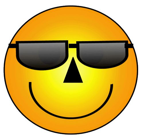 smiley face graphic free | Smiley Face with Sunglasses Clip Art