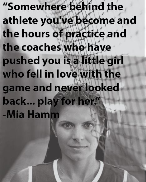 Play for you - Mia Hamm...Wow this is one of my all time favorites.