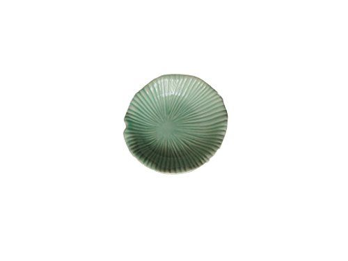 Asian Style Round Ceramic Sauce Dishes Size 8 cm shape mushroom and green colour Pack of 5 ** Check this awesome product by going to the link at the image.