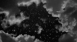 lights light Black and White dream stars starry clouds Magic star cloud dreamer black and white gif magical