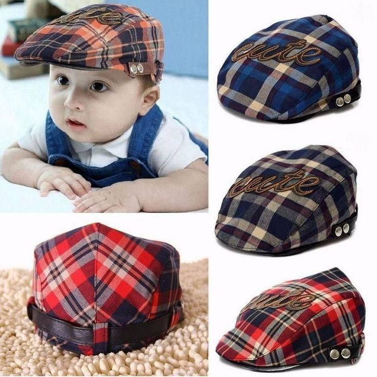 Baby Beret Hats Cute Toddler Sun Cap Letter Plaid Style for Infant Girls Boys Children Kids Gorras Snapback Boina Casquette #toddlergirlsunhats #toddlerboysunhats