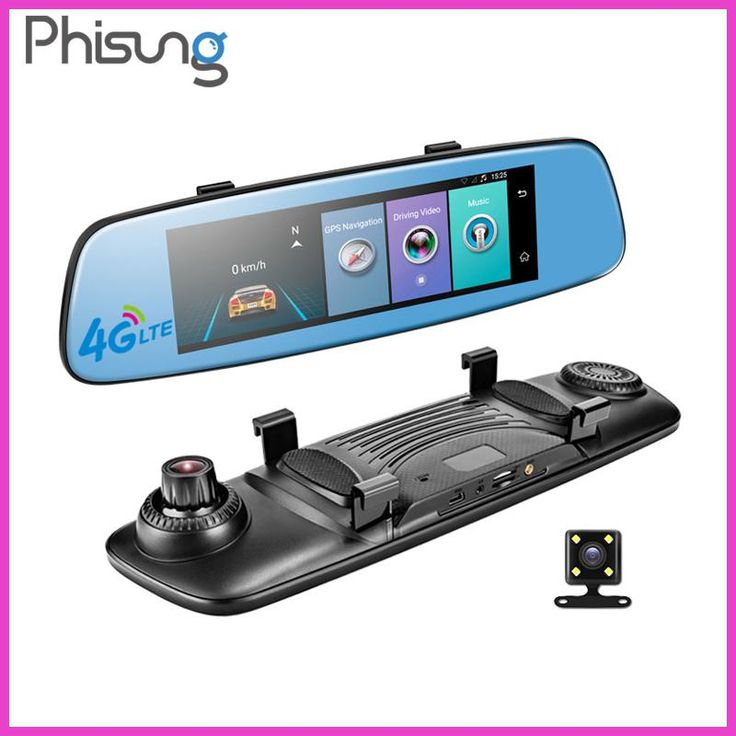 """Phisung E06 4G Car DVR 7.84"""" Touch ADAS Remote Monitor Rear view mirror with DVR and camera Android Dual lens 1080P WIFI dashcam"""